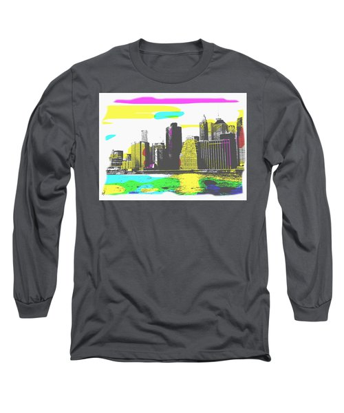 Pop City Skyline Long Sleeve T-Shirt