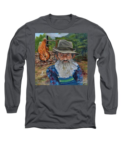 Popcorn Sutton - Rocket Fuel -white Whiskey Long Sleeve T-Shirt
