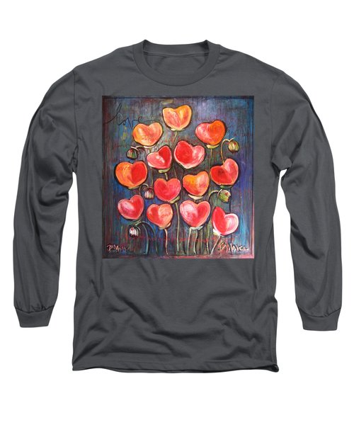 Poppies Are Hearts Of Love We Can Give Away Long Sleeve T-Shirt