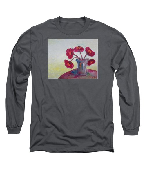 Poppies In A Vase Long Sleeve T-Shirt