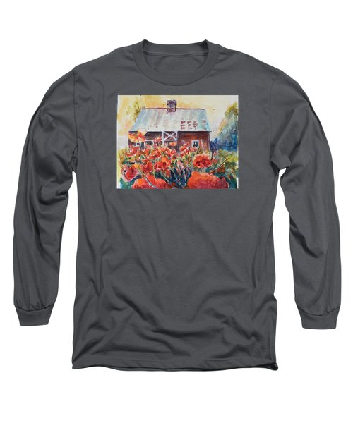 Long Sleeve T-Shirt featuring the painting Poppy Morning by P Maure Bausch