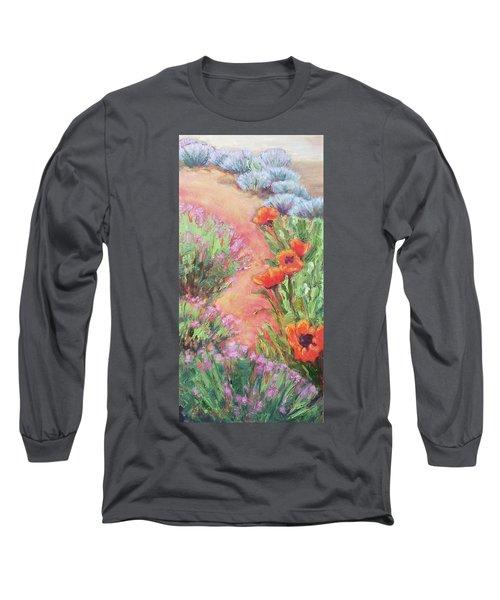 Poppy Pathway Long Sleeve T-Shirt