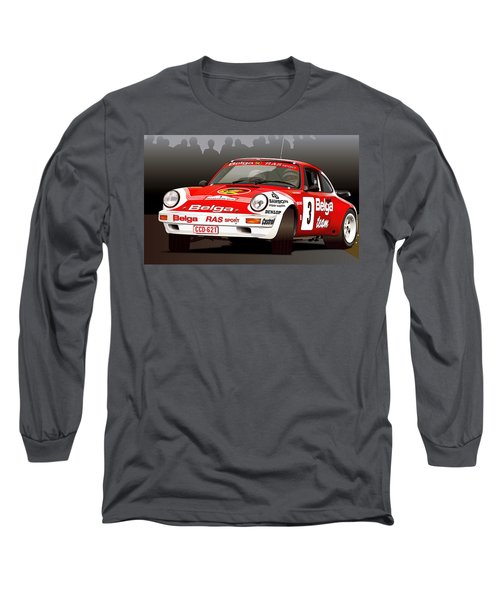 Porsche 911 Rally Illustration Long Sleeve T-Shirt