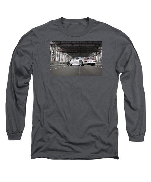 Long Sleeve T-Shirt featuring the photograph Porsche 918 Spyder by ItzKirb Photography