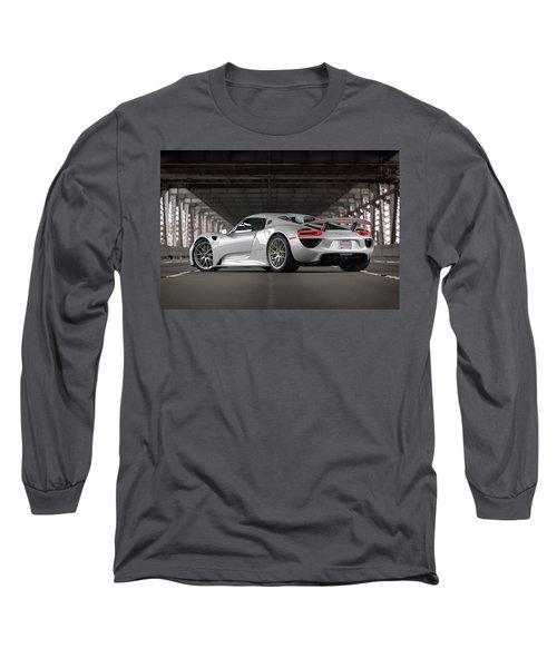 Long Sleeve T-Shirt featuring the photograph #porsche #918spyder #print by ItzKirb Photography