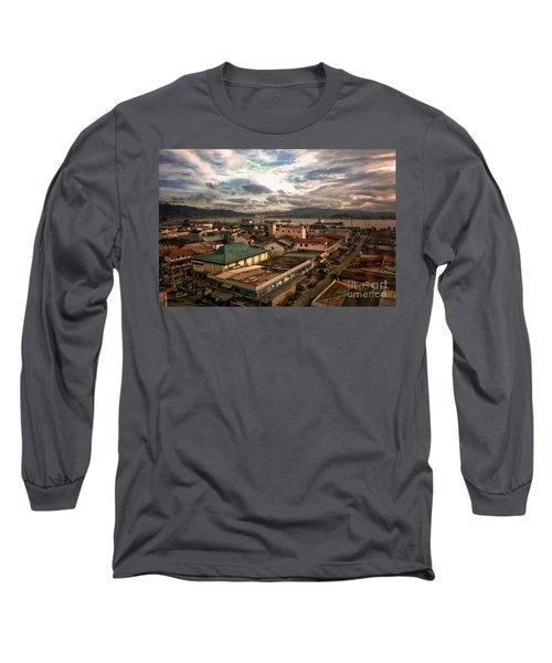 Port View At River Mahakam Long Sleeve T-Shirt
