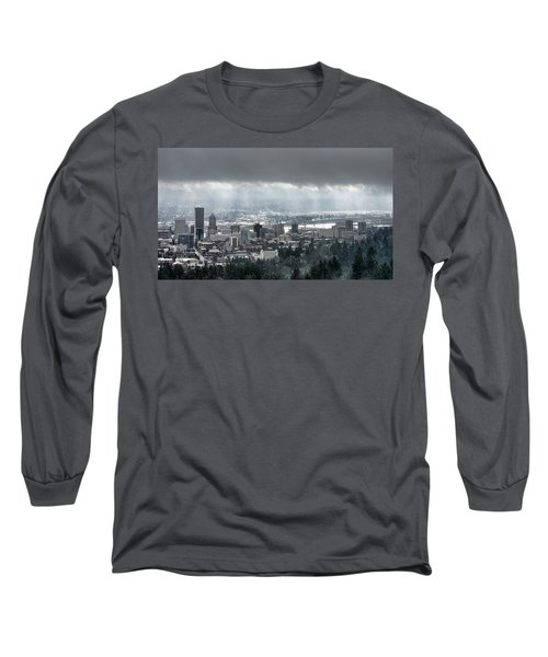 Portland After A Morning Rain Long Sleeve T-Shirt