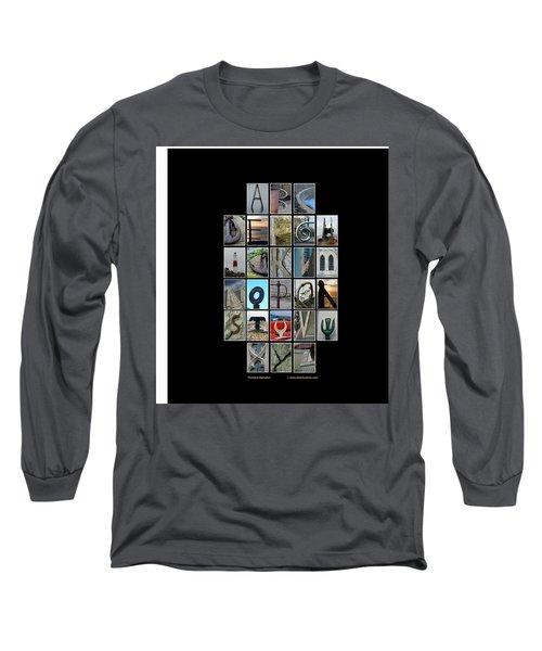 Portland Alphabet Long Sleeve T-Shirt