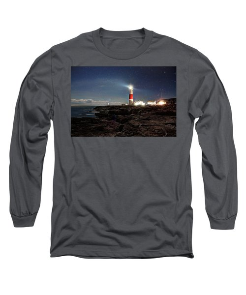 Portland Bill Lighthouse Uk Long Sleeve T-Shirt