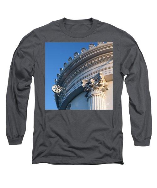 Long Sleeve T-Shirt featuring the photograph Portland Breakwater Light  -58750 by John Bald