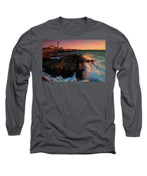Long Sleeve T-Shirt featuring the photograph Portland Head First Light  by Emmanuel Panagiotakis