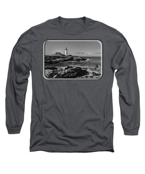 Portland Head Light No.34 Long Sleeve T-Shirt by Mark Myhaver