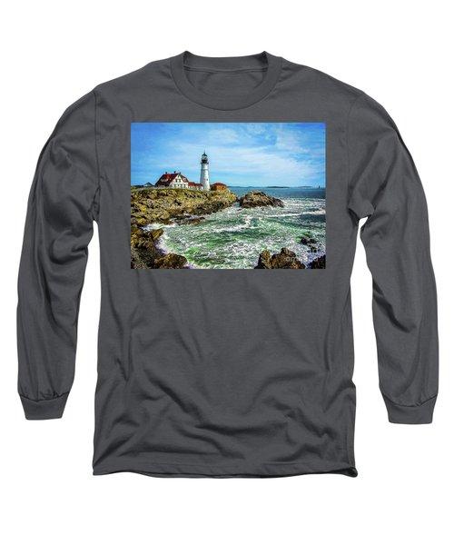 Portland Head Light - Oldest Lighthouse In Maine Long Sleeve T-Shirt