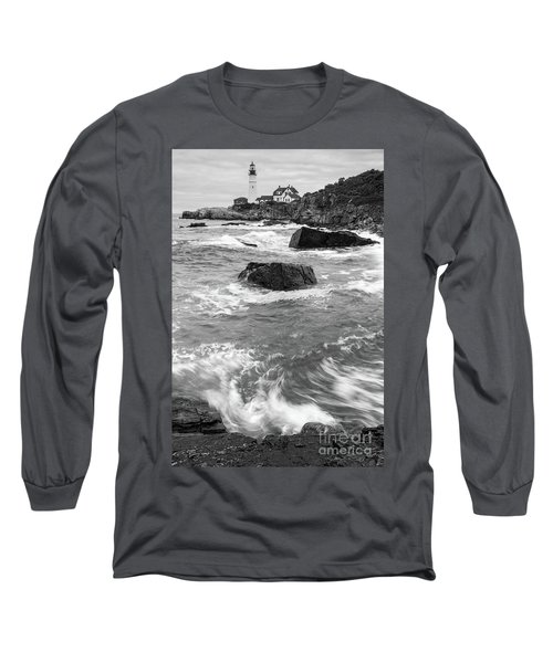 Portland Head Light Under Heavy Skies  -88356 Long Sleeve T-Shirt