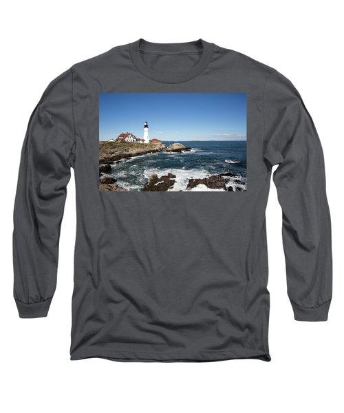 Portland Head Lighthouse Maine Long Sleeve T-Shirt