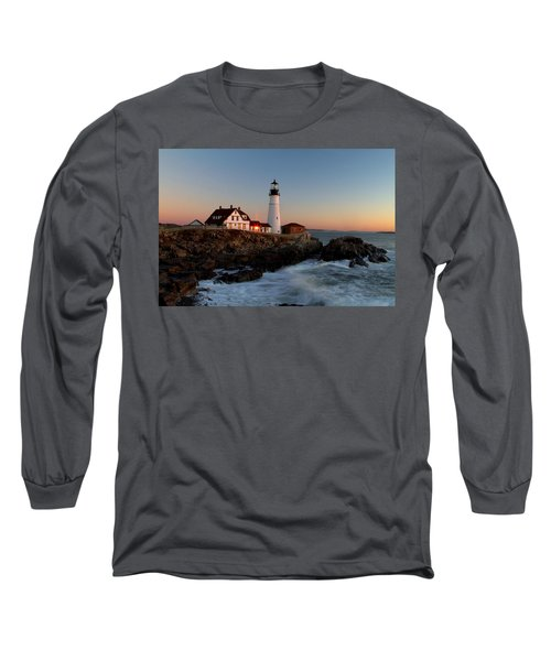 Portland Head Lighthouse Sunrise Long Sleeve T-Shirt