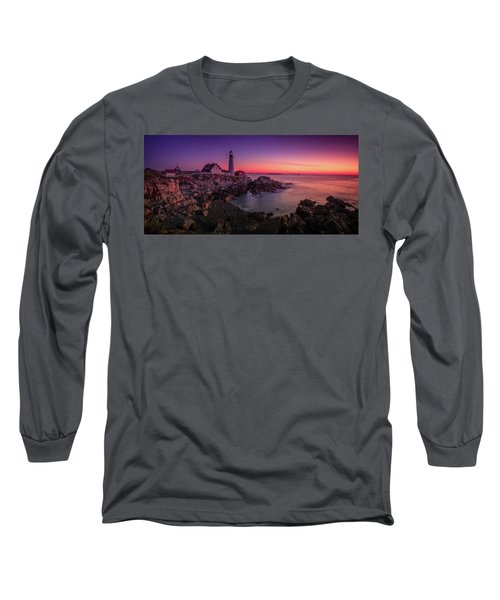 Long Sleeve T-Shirt featuring the photograph Portland Head Lighthouse Sunrise  by Emmanuel Panagiotakis