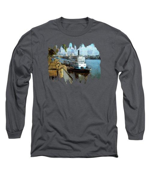 Portland Sunday Walk Long Sleeve T-Shirt by Thom Zehrfeld