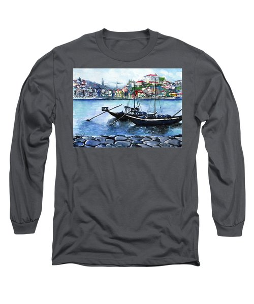 Porto Rabelo Boats Long Sleeve T-Shirt