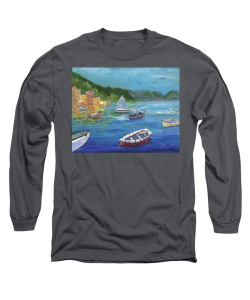 Long Sleeve T-Shirt featuring the painting Portofino, Italy by Jamie Frier
