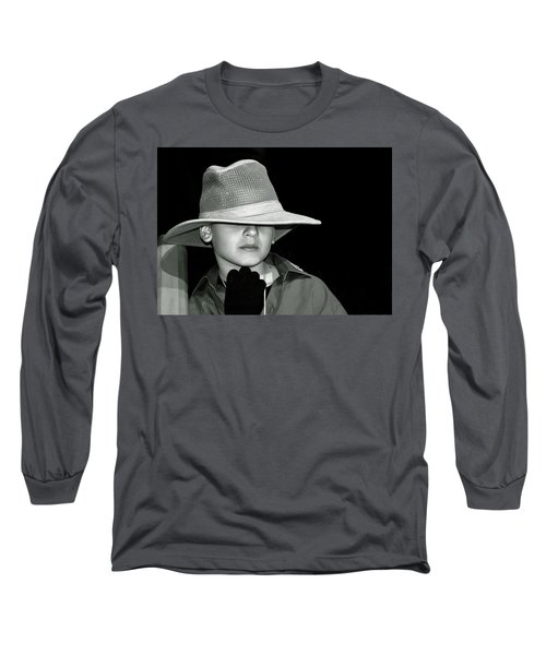 Portrait Of A Boy With A Hat Long Sleeve T-Shirt by Alex Galkin