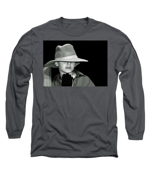 Portrait Of A Boy With A Hat Long Sleeve T-Shirt