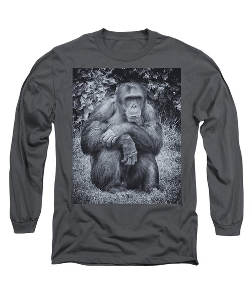Portrait Of A Chimp Long Sleeve T-Shirt
