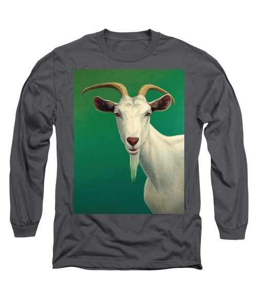 Portrait Of A Goat Long Sleeve T-Shirt by James W Johnson