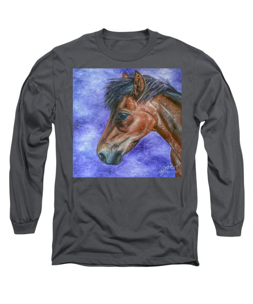 Portrait Of A Pony Long Sleeve T-Shirt