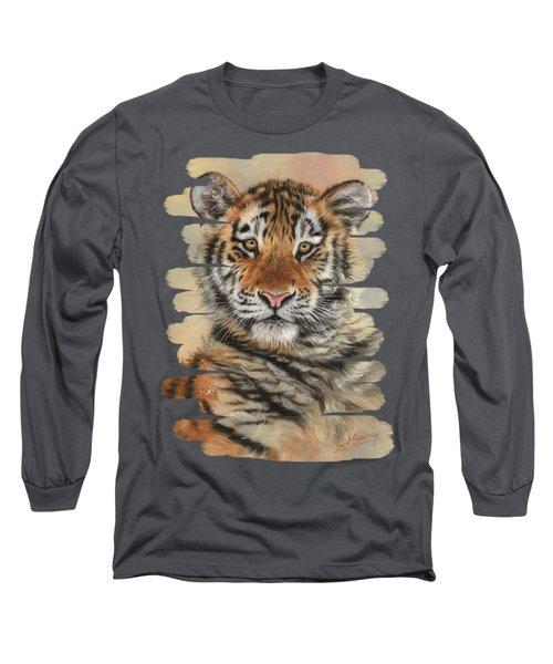 Portrait Of A Tiger Cub Long Sleeve T-Shirt