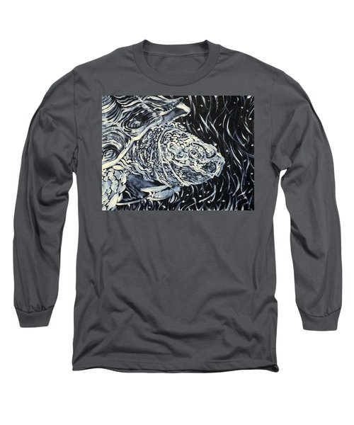 Long Sleeve T-Shirt featuring the painting Portrait Of A Turtle by Fabrizio Cassetta