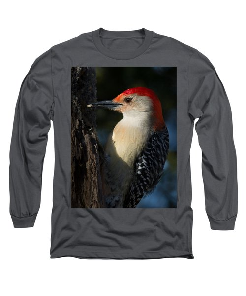 Portrait Of A Woodpecker Long Sleeve T-Shirt