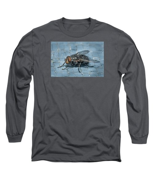 Portrait Of A Young Insect As A Fly Long Sleeve T-Shirt