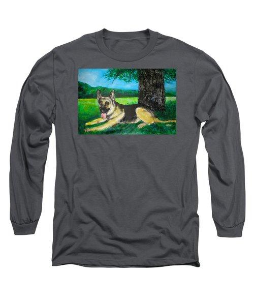 Portrait Of Edy Long Sleeve T-Shirt by Seth Weaver