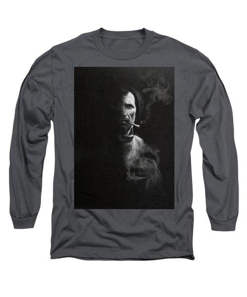 Portrait Of Tom Crean Antarctic Explorer Long Sleeve T-Shirt
