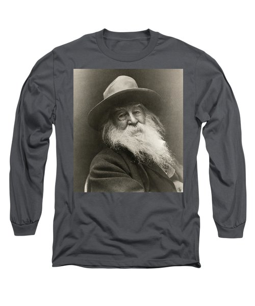 Portrait Of Walt Whitman Long Sleeve T-Shirt