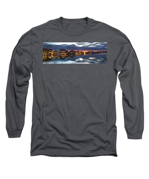 Portsmouth Waterfront Panorama Long Sleeve T-Shirt