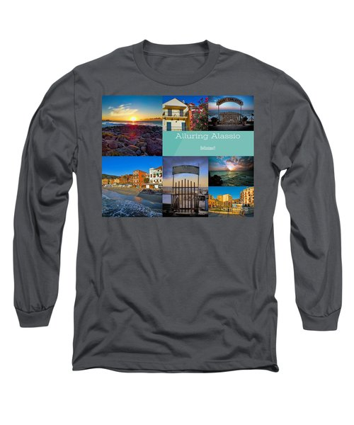 Postcard From Alassio Long Sleeve T-Shirt by Karen Lewis
