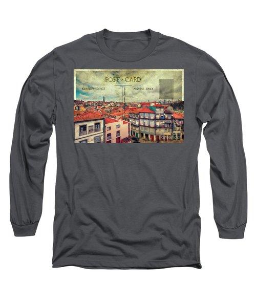 postcard of Porto Long Sleeve T-Shirt