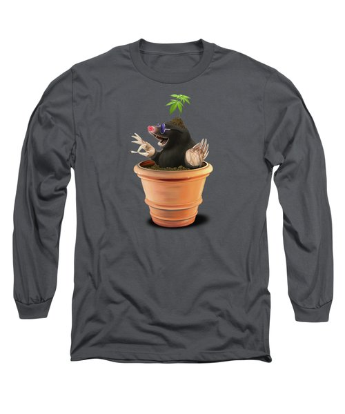 Long Sleeve T-Shirt featuring the drawing Pot Colour by Rob Snow
