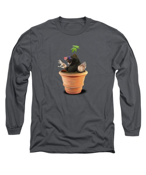 Long Sleeve T-Shirt featuring the drawing Pot Wordless by Rob Snow