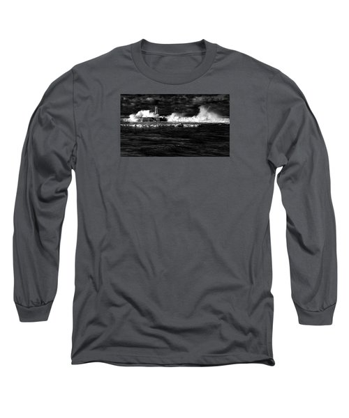 Long Sleeve T-Shirt featuring the photograph Pounding The Breakwater by Nareeta Martin