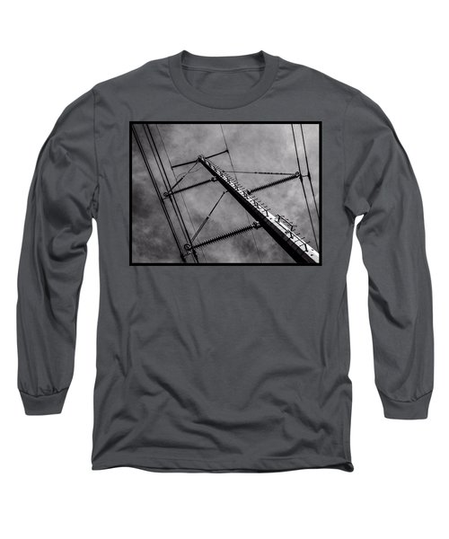 Power Line Sky Long Sleeve T-Shirt