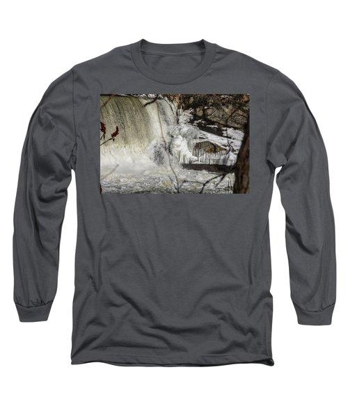 Power Station Falls On Black River  Long Sleeve T-Shirt