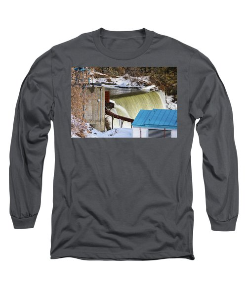 Power Station Falls On Black River Two Long Sleeve T-Shirt