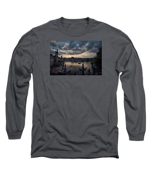 Prague Castle Long Sleeve T-Shirt by James David Phenicie