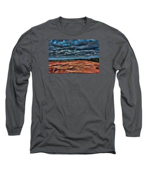 Prairie Dog Town Fork Red River Long Sleeve T-Shirt by Diana Mary Sharpton