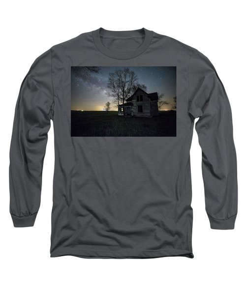Prairie Gold And Milky Way Long Sleeve T-Shirt by Aaron J Groen