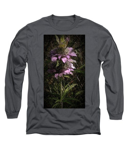 Prairie Weed Flower Long Sleeve T-Shirt by Donna G Smith