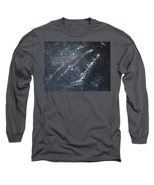 Long Sleeve T-Shirt featuring the painting Prana by Michael Lucarelli